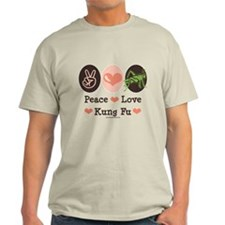 Peace Love Grasshopper Kung Fu T-Shirt