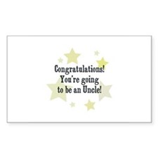 Congratulations! You're going Sticker (Rectangular