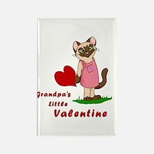 Grandpa's little Valentine Rectangle Magnet