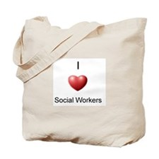I Heart Social Workers Tote Bag