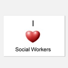 I Heart Social Workers Postcards (Package of 8)
