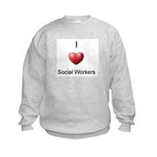 I Heart Social Workers Sweatshirt