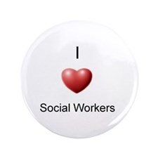 "I Heart Social Workers 3.5"" Button"