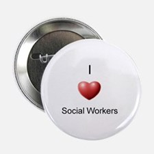 """I Heart Social Workers 2.25"""" Button"""