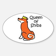 Queen of Shiba Oval Decal