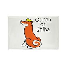 Queen of Shiba Rectangle Magnet