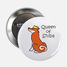"Queen of Shiba 2.25"" Button (100 pack)"