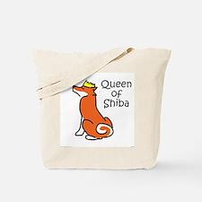 Queen of Shiba Tote Bag