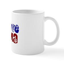 Peace, Love and Obama Small Small Mug