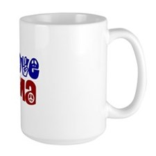 Peace, Love and Obama Mug