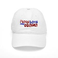 Peace, Love and Obama Baseball Baseball Cap