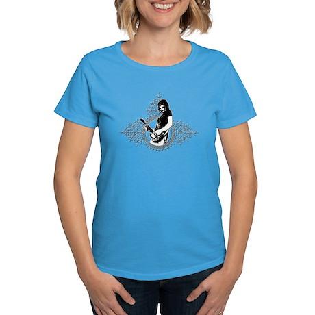 SOLO ELECTRICAL GUITAR GIRL Women's Dark T-Shirt