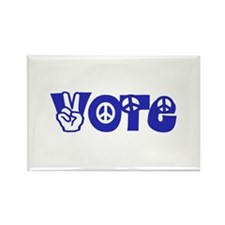 Vote for Peace Rectangle Magnet