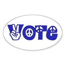 Vote for Peace Oval Decal