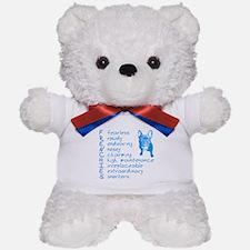 F R E N C H I E S blue Teddy Bear