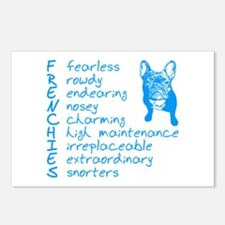 F R E N C H I E S blue Postcards (Package of 8)