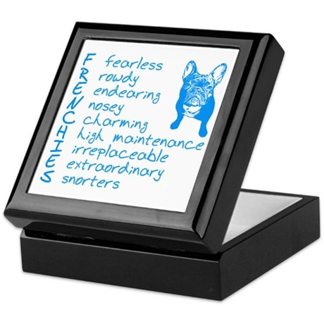 F R E N C H I E S blue Keepsake Box