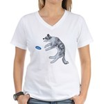 Disc Dog Missed It Women's V-Neck T-Shirt
