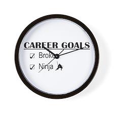 Broker Career Goals Wall Clock
