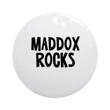 Maddox Rocks Ornament (Round)