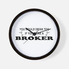 You'd Drink Too Broker Wall Clock