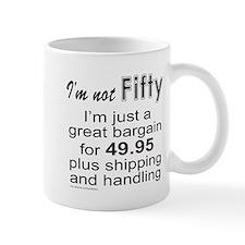 FIFTIETH BIRTHDAY Small Mugs