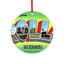 Rolla Missouri Greetings Ornament (Round)