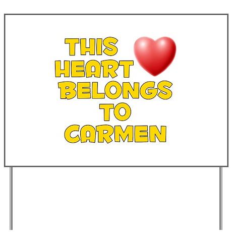 This Heart: Carmen (D) Yard Sign