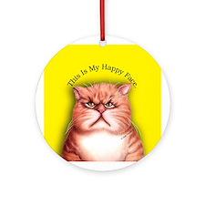 Happy Face Porcelain Keepsake (Round)