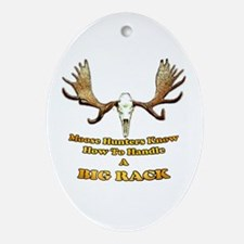 moose humor gifts and t-shirts Oval Ornament