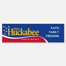 Mike Huckabee for President Bumper Bumper Bumper Sticker