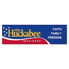 Mike Huckabee for President Bumper Car Sticker