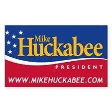 Mike Huckabee for President Rectangle Decal