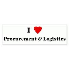 I Love Procurement & Logistic Bumper Bumper Sticker