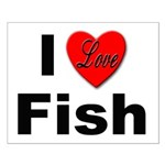 I Love Fish for Fish Lovers Small Poster