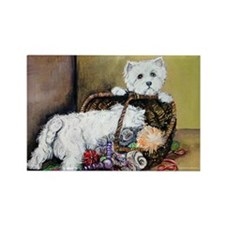 Westhighland Terrier Toys Rectangle Magnet