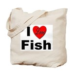 I Love Fish for Fish Lovers Tote Bag