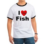 I Love Fish for Fish Lovers Ringer T
