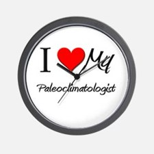 I Heart My Paleoclimatologist Wall Clock