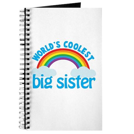 world's coolest big sister rainbow Journal
