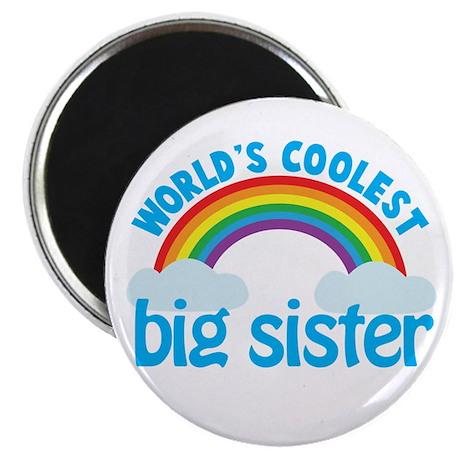world's coolest big sister rainbow Magnet