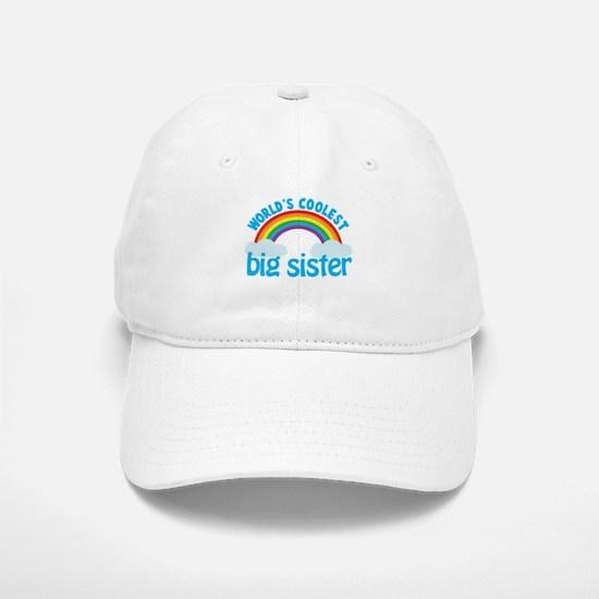 world's coolest big sister rainbow Cap