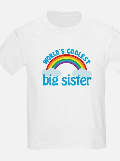 world's coolest big sister rainbow T-Shirt