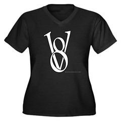 V8 Women's Plus Size V-Neck Dark T-Shirt