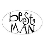Best Man Graffiti Oval Sticker