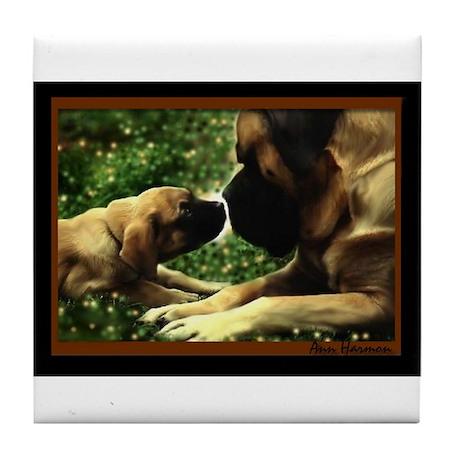 Dog Designs Tile Coaster