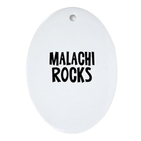 Malachi Rocks Oval Ornament