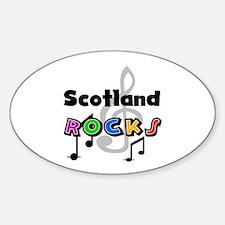 Scotland Rocks Oval Decal