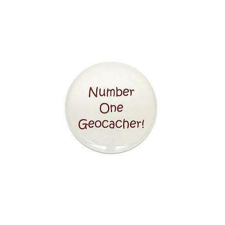 #1 Geocacher! Mini Button (10 pack)
