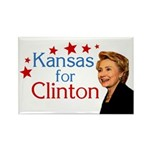 Kansas for Clinton Rectangle Magnet
